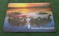 1984 / 1985 / 1986 RELIANT SCIMITAR GTC GTE 2.8 UK COLOUR LEAFLET SPEC  BROCHURE