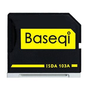 "BASEQI 103A Aluminum 100% Hidden microSD Adapter for MacBook Air 13"""