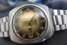 Orient SS Coin Edge Bezel, Faceted Crystal, 37mm Mens Day/DateTaupe Dial Auto