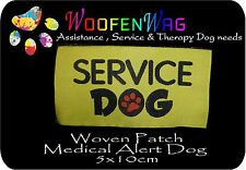 2 x WOVEN Service Dog patch - sew on