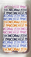 Coach iPhone 5 case Cover NIB Case Double Stripe Pink Blue Signature Chambray 5S
