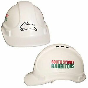 New NEW NRL Rabbitohs Light Weight Vented Safety Hard Hat: White Merchandise