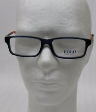 35271dbb85 Polo Ralph Lauren Glasses Unisex Ph 2115 5469 52 16 140 Schwarzblau-Orange  New