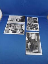 REAL PHOTO POSTCARDS LOT OF 4 DUNSTER CASTLE LEMON TREE STAIRCASE COAT OF ARMS
