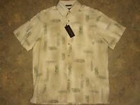 tropical Hawaiian Rayon Shirt  Mens Medium   NWT