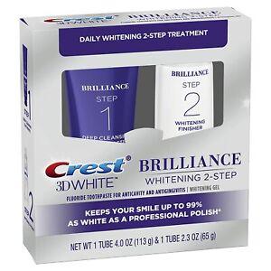 Crest-3D White Brilliance 2 Step Kit, Deep Clean Toothpaste (4oz) + Teeth...