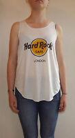 HARD ROCK CAFE LONDON T-Shirt Vest TOP Ladies Women Girls HARDROCK CAFE TSHIRT