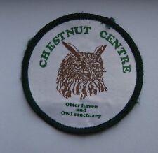 Retro Patch/Cloth Badge Chestnut Centre Otter Owl Sanctuary - Animal Souvenir UK
