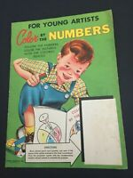 1953 Color By Numbers For Young Artists Cordell Products James & Jonathan
