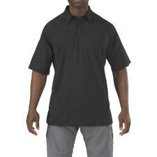 Polos de hombre en color principal negro de poliéster