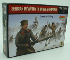 Strelets Set M 126 Serbian Infantry in Winter Uniform WWI 1/72 Scale WW1 Serbs