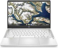 """🔥2021 HP 14"""" WLED HD Chromebook Celeron N4000/4G/32G 14a-na0020nr Ceramic White"""