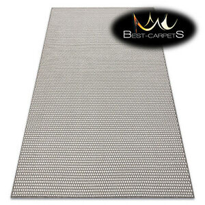 Amazing Modern Flat Woven SISAL RUG 'SISALO' Dots TAUPE / CREAM easy to clean