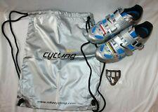 NIKE Lance Limited Edition Chrome Photo Blue Cycling Shoes Sz. 42 USA 8.5 NEW