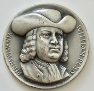 Medallic Art Co. William Penn Seal of the state Pennsylvania Silver Medal .999