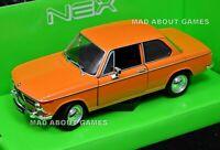 BMW 2002 Ti 1974 1/24 Scale Model Toy Car Diecast Metal Miniature Orange