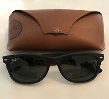Ray Ban Polarized Wayfarer Matte Black Sunglasses w/ Original Case