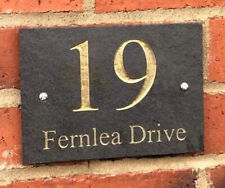 More details for 200mm x 130mm deep engraved slate sign, house number, street sign, name plaque