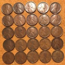 1909-P LINCOLN CENTS -- HALF ROLL (25 COINS) -- ALL GOOD OR BETTER!