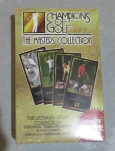 1997 CHAMPIONS OF GOLF THE MASTERS COLLECTION SEALED BOX TIGER WOODS RC PSA