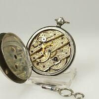 RAR!!! Bauern SILBER Taschenuhr TROUS Schlüssel Uhr uhren no armbanduhr spindel