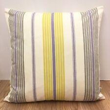 724. Handmade ILIV YELLOW GREY STRIPES 100% Cotton Cushion Cover Various sizes