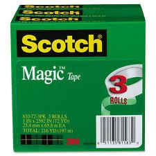 """Scotch Magic Tape 1"""" x 2592"""" 3"""" Core 3/Pack 810723PK"""
