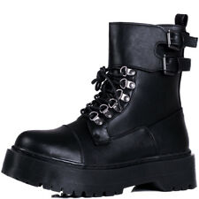 Womens Extra Chunky Platform Lace Up Combat Boots Sz 3-8