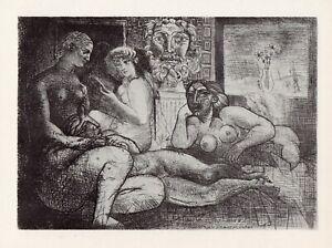 Pablo Picasso, Women Amongst Themselves with Sculpted Voyeur, Vollard Suite