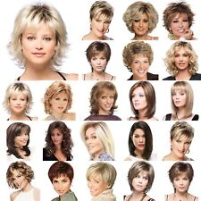 Women Short Long Full Wigs Ombre Blonde Brown Bob Style Curly Wavy Synthetic Wig