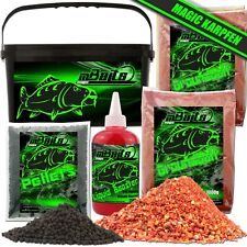 Angel Berger Magic Baits Futterset Karpfen mit Eimer Groundbait Liquid Pellets