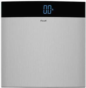 Escali S200 Extra Large Stainless Steel Bathroom Scale 440 Lb/200 Kg