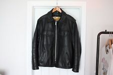 Vintage Schott Perfecto Leather Jacket Size 42 Large Model 602 Police EUC