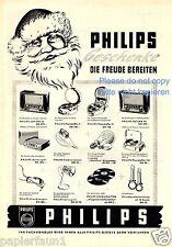 Philips XL publicitarias navidad 1953 Nicolás Santa regalo radio tocadiscos