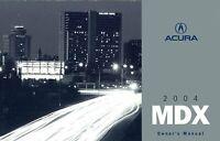 Bishko OEM Maintenance Owner's Manual Bound for Acura Mdx 2004