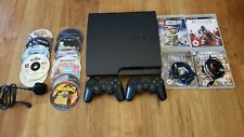 Sony PlayStation 3 Slim 320GB Console 2 x controllers and 16 x games bundle