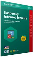Kaspersky Internet Security 2018 1 User Multi Device inc Antivirus FFP Retail