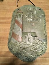 "Lighthouse indoor/outdoor Garden Wall hanging Plaque Decor 16"" Let Light Shine"