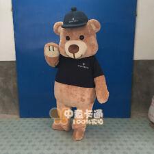 Teddy Bear Costume Cartoon Mascot Plush Animal Cosplay Fancy Dress Parade Adults
