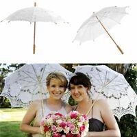 Handmade Cotton Lace Parasol Umbrella Bridal Wedding Party Photograph Decor Tool