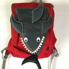 Ll Bean Child Backpack / Beach Bag Shark, Dark Gray & Red