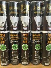 5 DOZ AEROPLANE BLACK EG1130 FEATHER BADMINTON SHUTTLES SHUTTLECOCKS SPEED 50