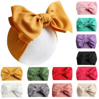 Big Elastic Hair Band Bowknot Head Wrap Turban Headband Girls Toddler Kids Baby