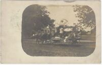 1909 Horse Drawn Float with Japanese & American Flags Real Photo Postcard