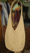 "Slings 32"" Tan Crochet Bamboo Shoulder Quik Dry Anti Microbial Beach Tote Purse"