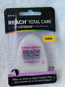 Reach Total Care Listerine Flavors Fresh Mint Dental Floss 30 Yd Micro Grooves