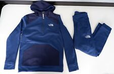 North Face Boys Tracksuit, Size XL, Blue, Jacket & Bottoms, Vgc