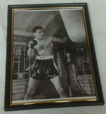 FRAMED 81/2 BY 11  OF ROCKY MARCIANO UNDEFEATED HEAVYWEIGHT CHAMPION  49-0