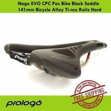 Prologo Nago EVO CPC Pas Bike Black Saddle 141mm Bicycle Alloy Ti-rox Rails Hard