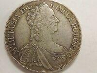 "1765 Austria One (1) Silver Thaler ""Maria Theresia"" Coin"